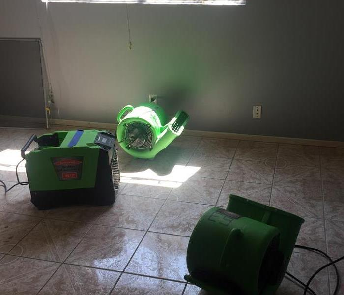 green drying equipment on the floor of a home